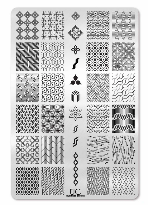 Business Chic-02 - UberChic Nail Stamping Plate