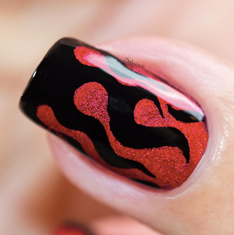 Colour Alike stamping polish - Valiant Poppy (red holo)