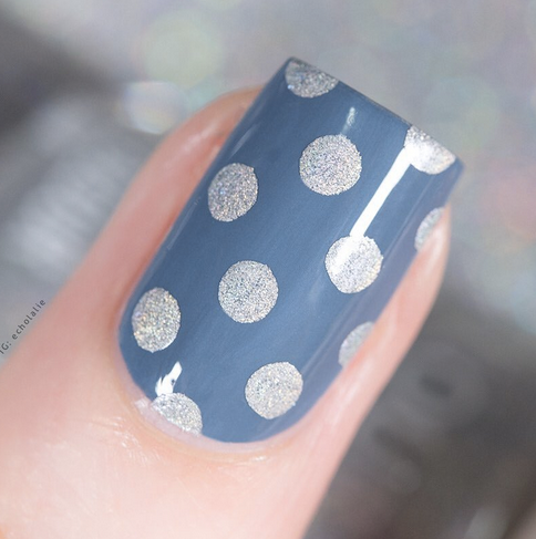 Colour Alike stamping polish - Quiet Gray (gray holo)