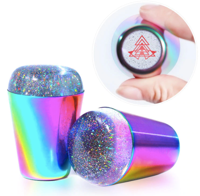 Multichrome Rainbow Sparkles Clear Stamper