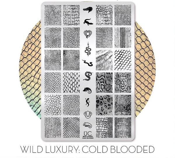 Wild Luxury: Cold Blooded - UberChic Nail Stamping Plate