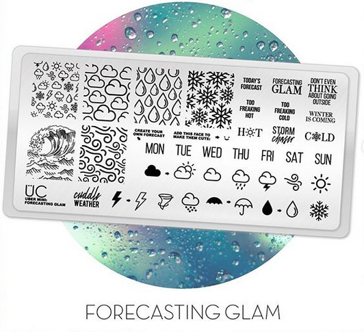 Forecasting Glam - Uber Mini Nail Stamp Plate