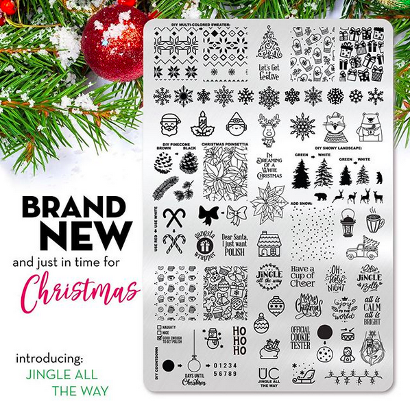 Jingle All the Way - UberChic Nail Stamping Plate