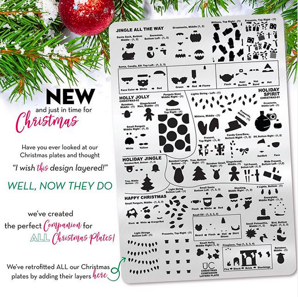 Christmas Companion Layers - UberChic Nail Stamping Plate