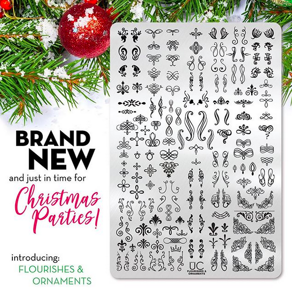 Flourishes & Ornaments - UberChic Nail Stamping Plate