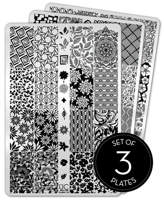UberChic Nail Stamp Plates - Just for Claws collection-01