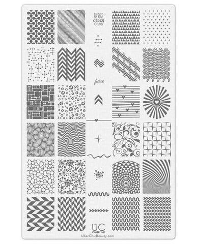 UberChic Nail Stamp Plates - Collection 1