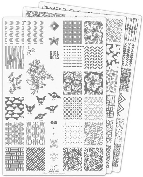 UberChic Nail Stamp Plates - Collection 15