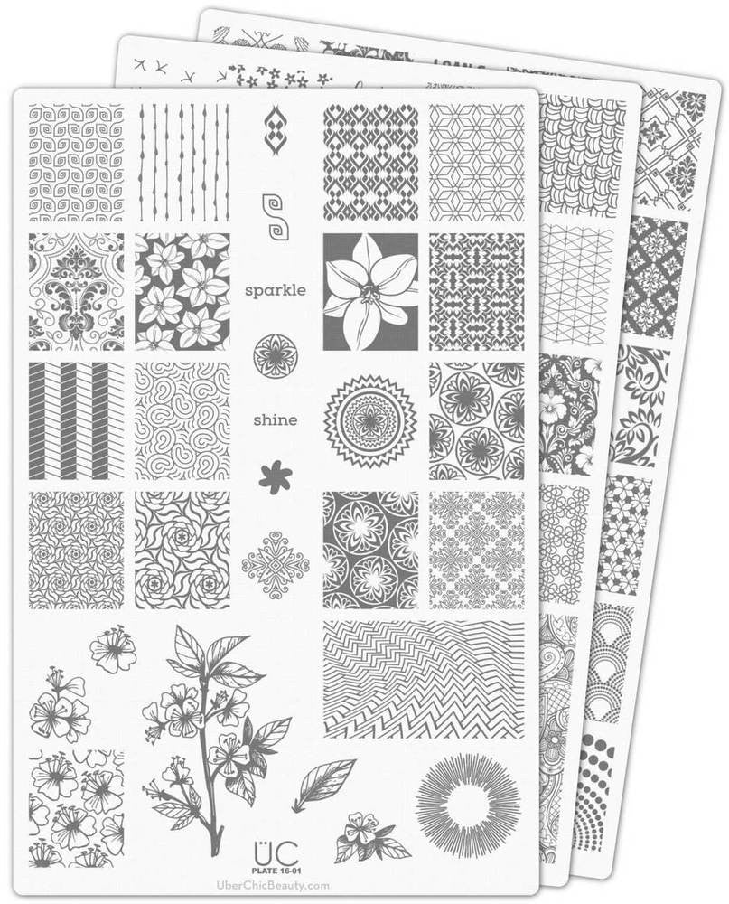 UberChic Nail Stamp Plates - Collection 16