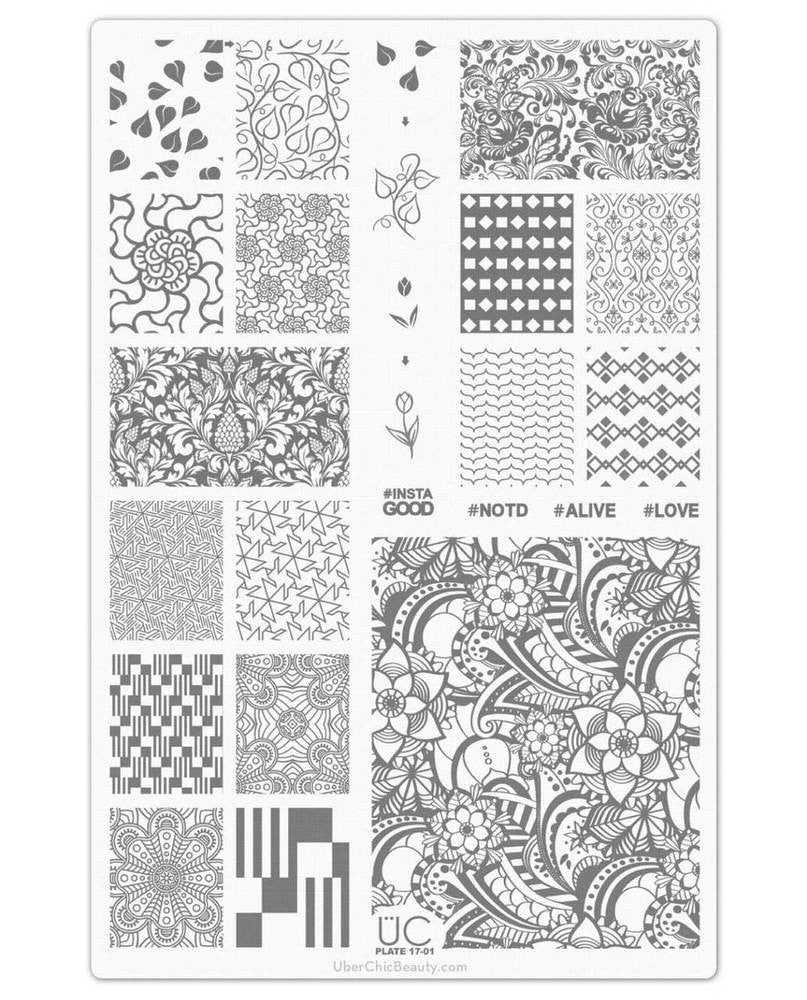 UberChic Nail Stamp Plates - Collection 17