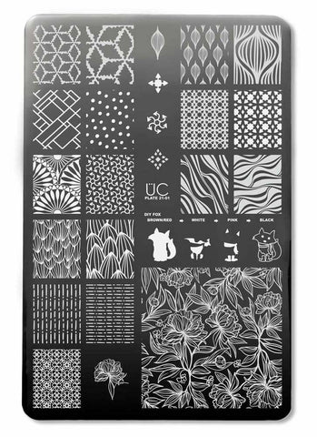 UberChic Nail Stamp Plates - Collection 21