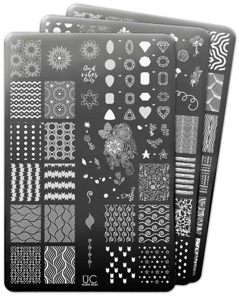 UberChic Nail Stamp Plates - Collection 22