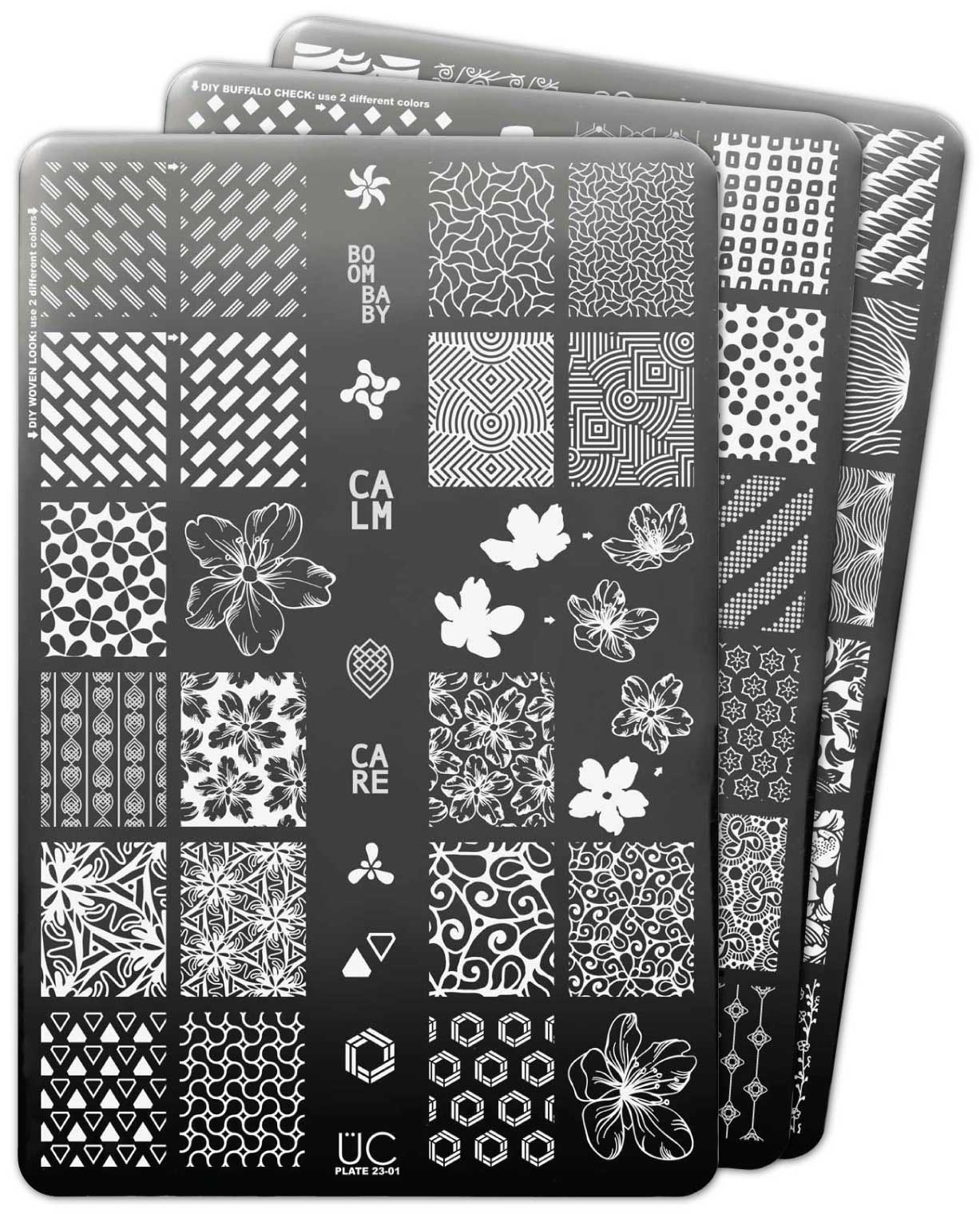 UberChic Nail Stamp Plates - Collection 23