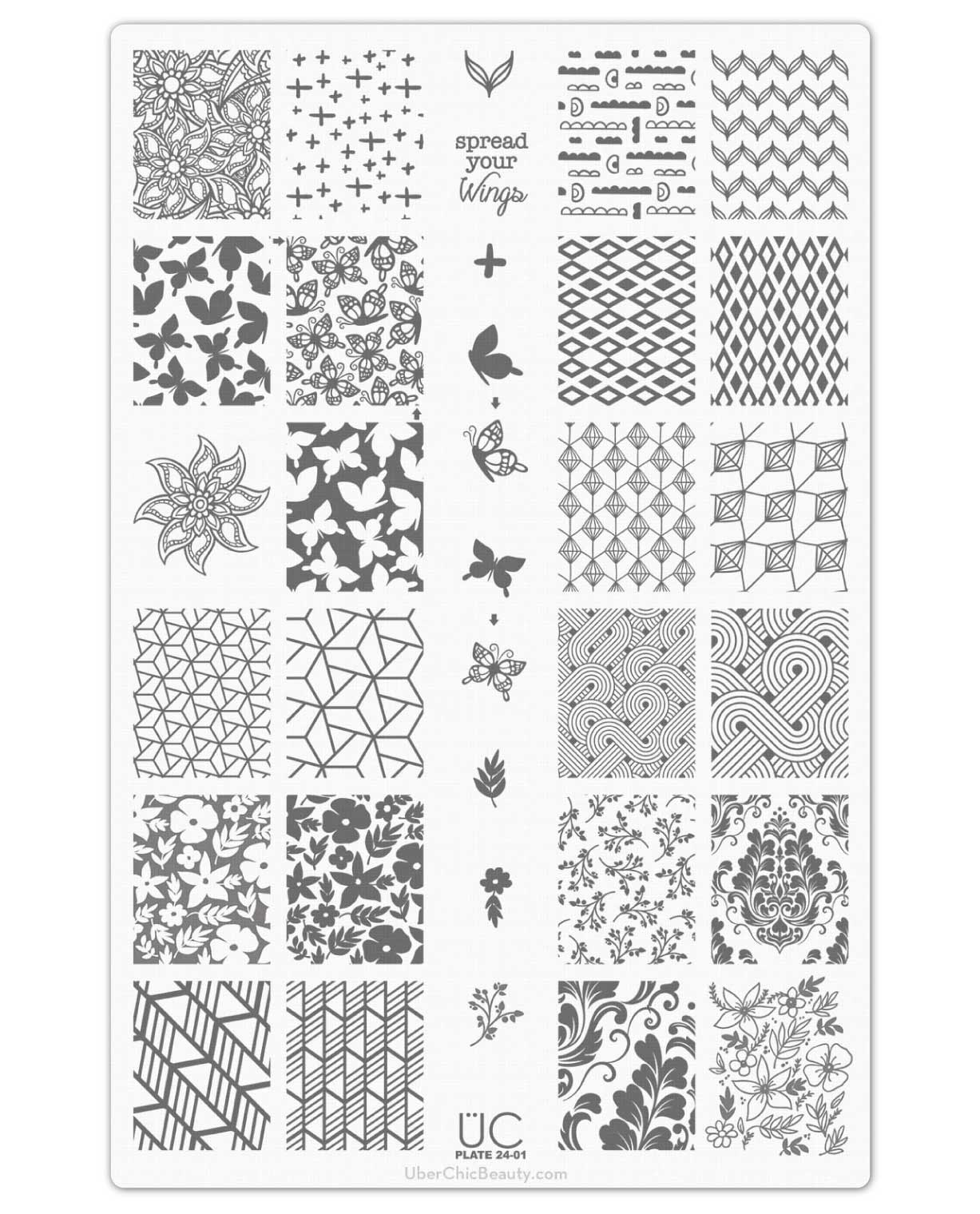 UberChic Nail Stamp Plates - Collection 24