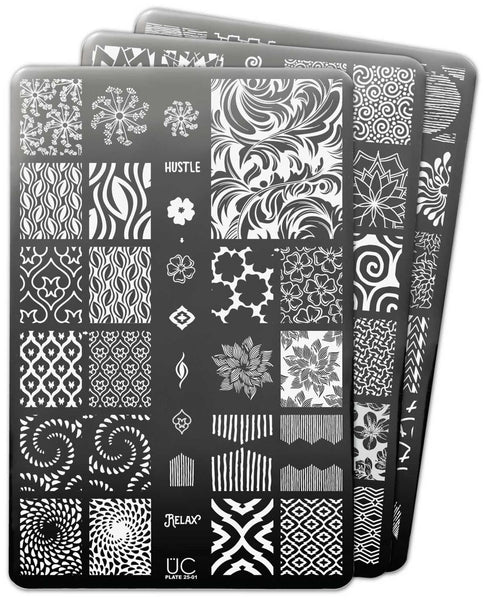 UberChic Nail Stamp Plates - Collection 25