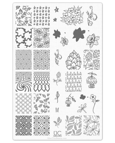 UberChic Nail Stamp Plates - Collection 26