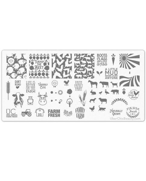 Farm Fresh - Uber Mini Nail Stamp Plate