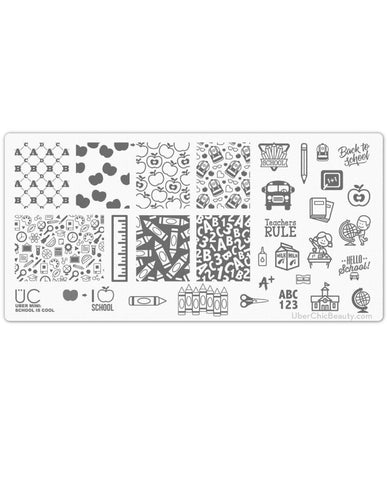 School is Cool - Uber Mini Nail Stamp Plate