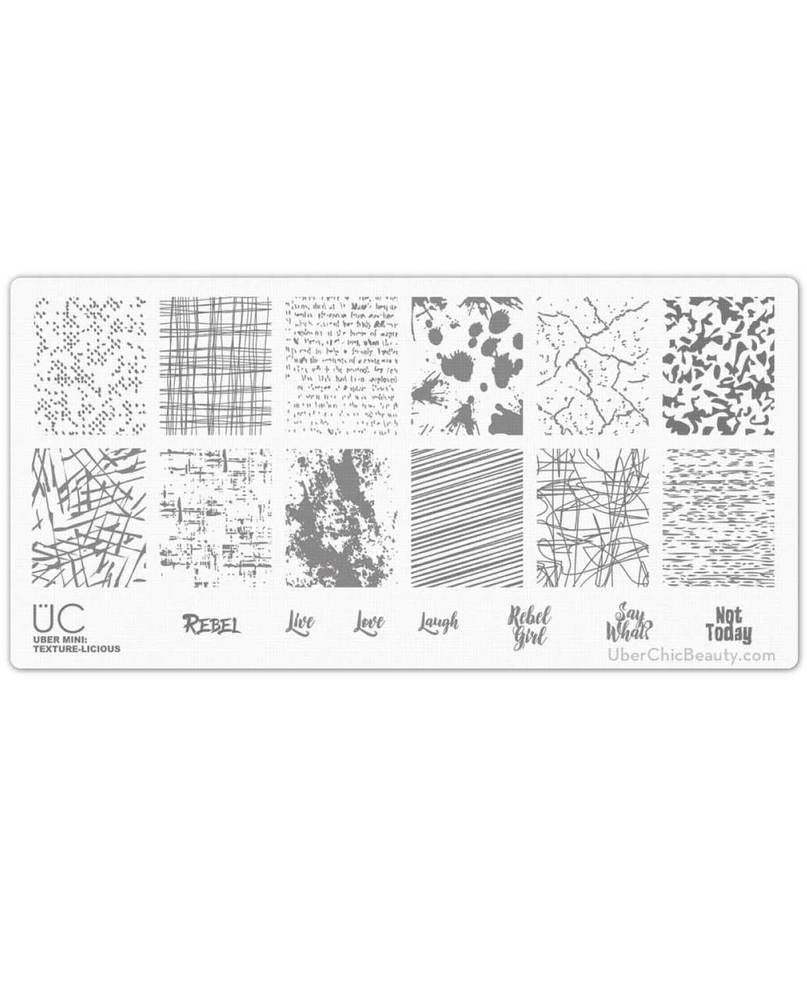 Texture-licious - Uber Mini Nail Stamp Plate