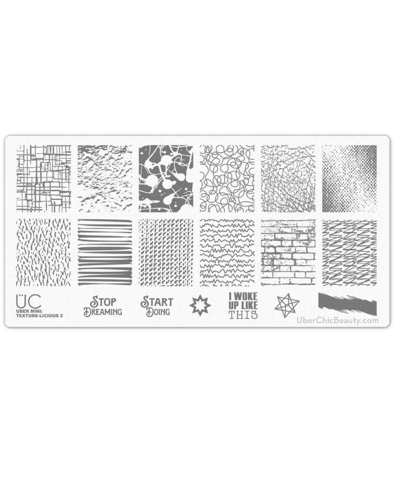 Texture-licious-02 - Uber Mini Nail Stamp Plate