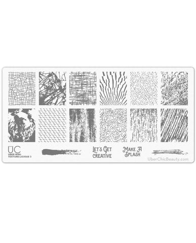 Texture-licious 3 - Uber Mini Nail Stamp Plate