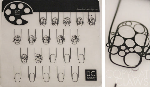 Mini Uber Nail Art Mat: Clear