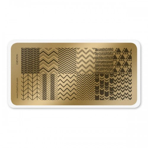 Color Club Chevron Stamping Plate