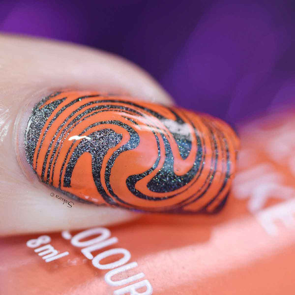Colour Alike stamping polish - orange sky