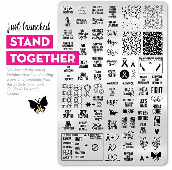 Stand Together - UberChic stamping plate