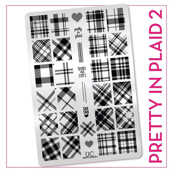 Pretty In Plaid-02 - UberChic stamping plate