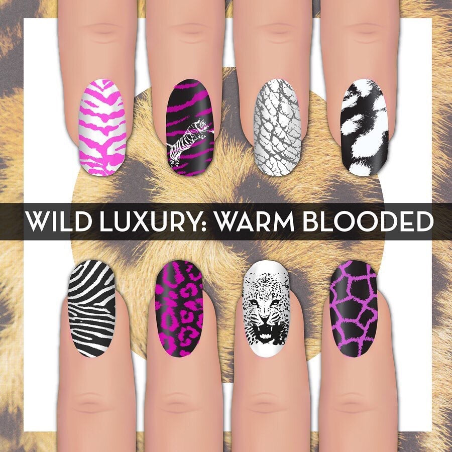 Wild Luxury: Warm Blooded - UberChic Nail Stamping Plate
