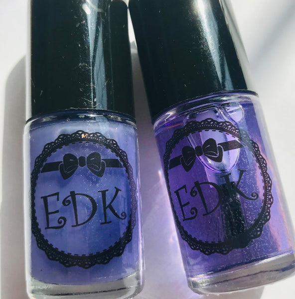 EDK Glitter SMOOTH AND SHINE DUO top coat + base coat