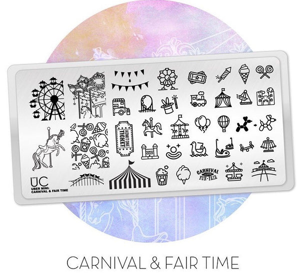 Carnival & Fair Time - Uber Mini Nail Stamp Plate