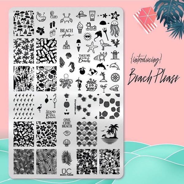 Beach Please - UberChic Nail Stamping Plate