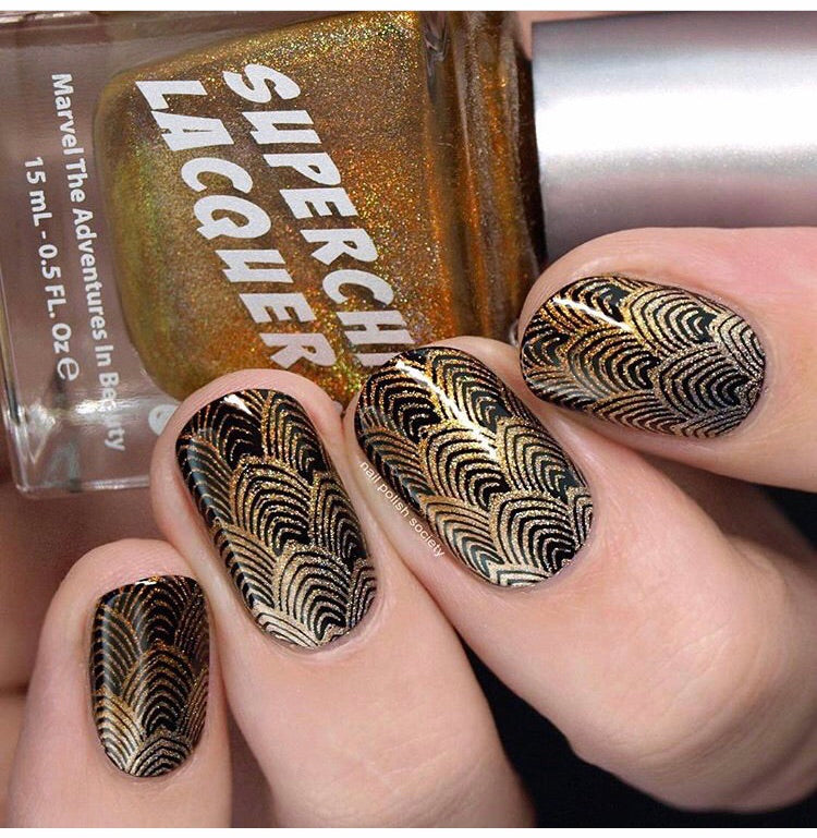 Art Deco Elegance - UberChic Nail Stamping Plate