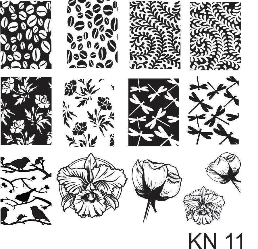 Kelly Negri stamping plates - KN11