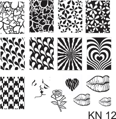 Kelly Negri stamping plates - KN12
