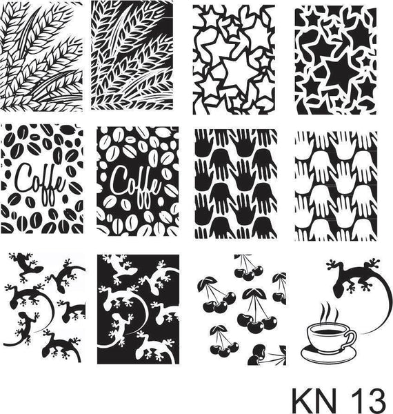 Kelly Negri stamping plates - KN13