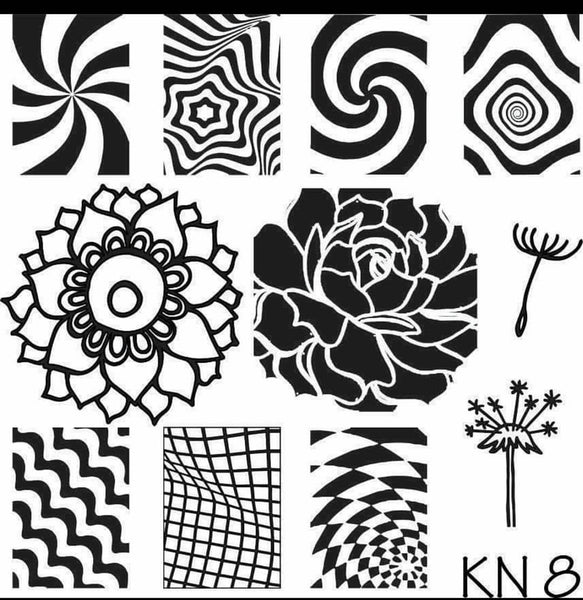 Kelly Negri stamping plates - KN08
