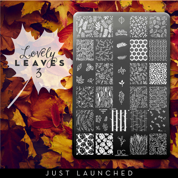 Lovely Leaves-03 - UberChic Nail Stamping Plate