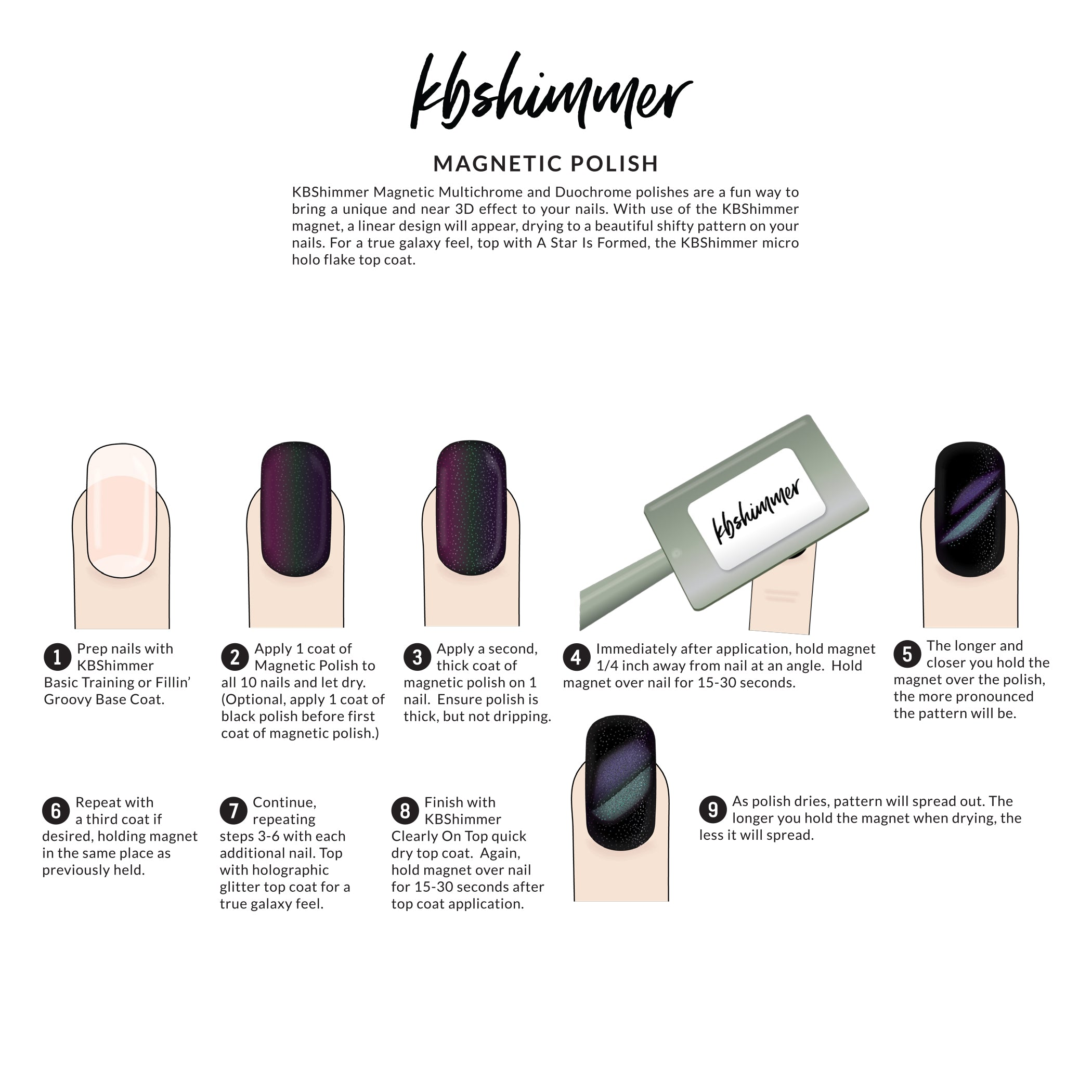 Magnetic Nail Polish Brands - To Bend Light