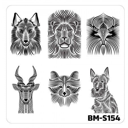 Nail Art Stamping Plates-Fuzzy and Ferocious - BM-S154, Animal Hairs
