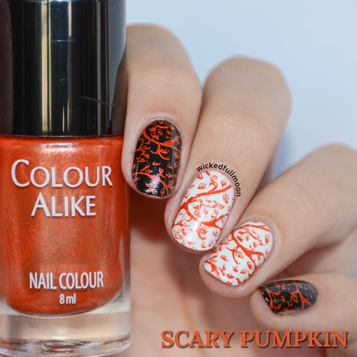 Colour Alike stamping polish - SCARY PUMPKIN