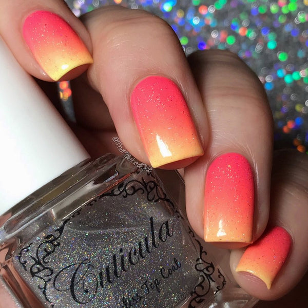 Cuticula Sparks Fly holo effect top coat (various scent)