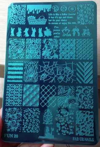 Stamping Plate - FUN20 IMAGE PLATE