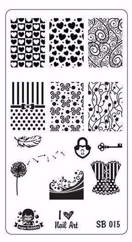 Stamping Plate - Sugar Bubbles - SB 015