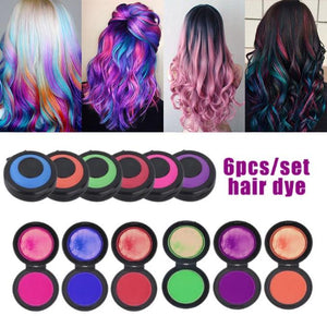 Fast Hair Coloring Set (6 colors) - GlowNGlam