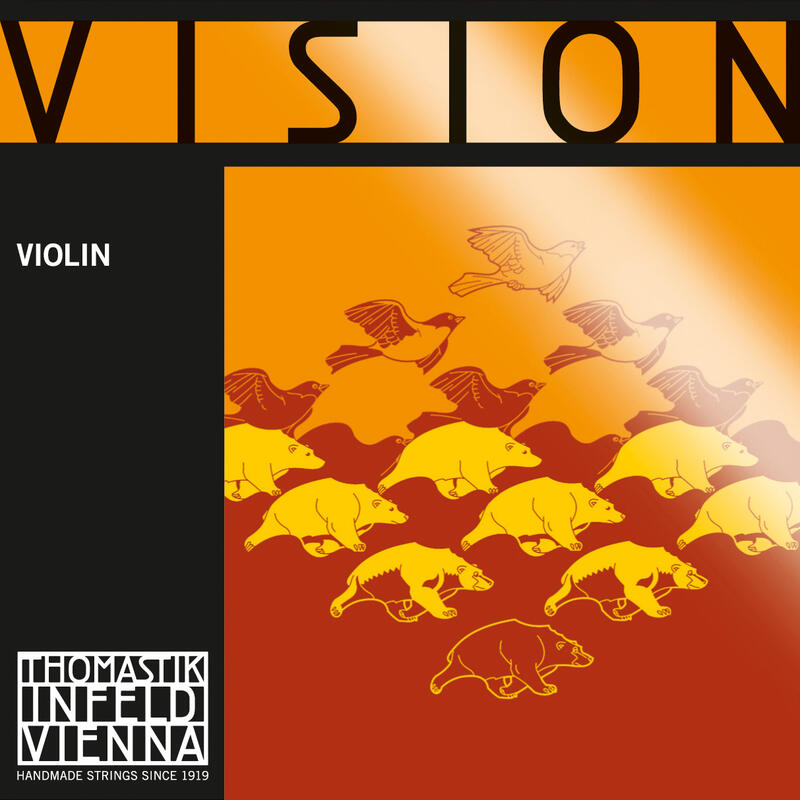 T-I Vision Violin String D Silv 4/4 Medium