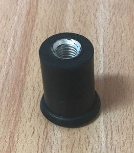 Core Endpin Tip for Double Bass Crutch 10mm Rubber Sleeve