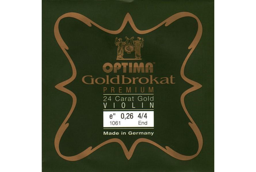 Optima Violin String Goldbrokat E String 24 Karat Gold Medium